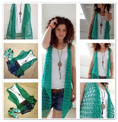 Summer crocheted vest. An easy and beautiful piece that you can do it yourself. Free pattern with step by step instructions and video tutorial.