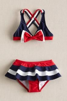 Girls Red White Bow Swimsuit is totally festive for the fourth of July! This America themed bathing suit for girls is sure to be a favorite. Kids Outfits Girls, Girl Outfits, Summer Outfits, Cute Outfits, Minnie Mouse Swimsuit, Most Beautiful Child, Mermaid Tails For Kids, Baby Girl Patterns, Girls Bathing Suits