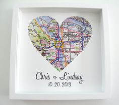 Wedding Gift : Heart Map Framed Print Personalized Wedding Date Any Location Available Engagement Gift Wedding Gift Custom Wedding Map by DefineDesign11 on Etsy https://www.etsy.com/listing/126825989/wedding-gift-heart-map-framed-print