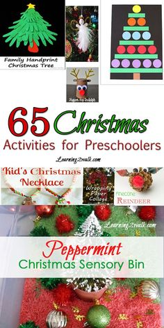 Christmas is such a great time for kids to explore through crafts and senses. Here are 65 Christmas Activities for Preschoolers