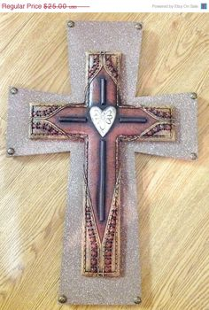 25off SUMMER-SALE WESTERN Style Cross Decor on Etsy, $18.75
