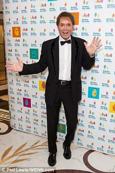 Jazzing things up: Sir Cliff Richard was also in attendance at the star-studded ball...
