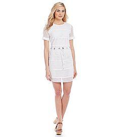 MICHAEL Michael Kors Mini Circle Eyelet Panel Dress #Dillards