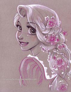 Original Art by Brianna Garcia - Raiponce