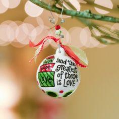 Faith Hope Love Gifts Ball Ornament