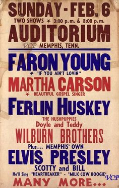 Faron Young and a host of other greats!