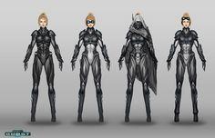 Future, Futuristic, Sci-Fi, Starcraft Nova Suit Designs by *Zeronis on deviantART