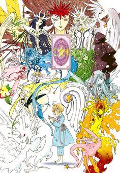 From chapter 5 of the new Cardcaptor Sakura series : Clear Card Act. CCS - Clear Card Act Colorization - Sakura Cards Manga Anime, Art Anime, Manga Art, Magical Girl, Alita Battle Angel Manga, Sakura Card Captor, Sakura Kinomoto, Xxxholic, Clear Card