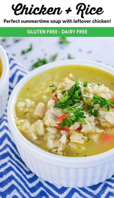 Chicken with Rice Soup is not only full of comfort food flavor, but it's also loaded with lots of healthy vegetables and pastured chicken. #chickenandricesoup #souprecipe #howtomakesoup #glutenfree #dairyfree #cleancuisine Clean Eating Recipes For Dinner, Clean Recipes, Soup Recipes, Whole Food Recipes, Dinner Recipes, Chicken Eating, Chicken Rice, Non Processed Foods, Lentil Dishes