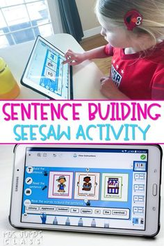 Using technology in kindergarten can be easy with this digital sentence building activity preloaded into Seesaw!