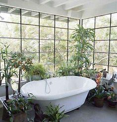 certainly wouldn't need to worry about splashing water! Hippy Room, Go Green, Natural Living, Eco Friendly, Green Bathrooms, Architecture, Instagram, House, Inspiration