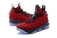 Cheapest And Latest New Arrival March 2018 Nike Cheap LeBron 15 Shoe Wine  Blue Basketball Shoes bf84fc61892d