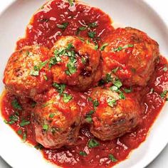 Rachel Rays Meatballs in Tomato Sauce.