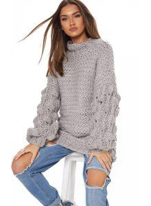 The Grey Oversized Jumper Knitted . Head online and shop this season's range of knitwear at PrettyLittleThing. Uk Fashion, Fashion Outfits, Latest Clothing Trends, Oversized Jumper, Winter Wardrobe, Knitwear, Sweaters For Women, Cute Outfits, Clothes For Women