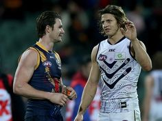 Patrick Dangerfield and Nat Fyfe had 38 disposals between them. Picture: Simon Cross
