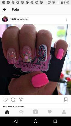 Uñas bonitas Cute Nails, My Nails, French Tip Acrylic Nails, Finger Art, Nail Trends, Short Nails, Manicure And Pedicure, Nail Designs, Nail Art