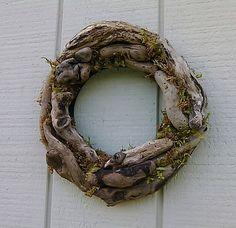 Driftwood Wreath Beach Cottage Decor Door Wreath
