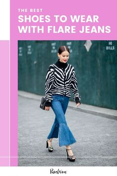 If you're searching for the right shoe to pair with you new flare jeans, you've come to the right place. Here, we're breaking down how to make your flare denim pop. #jeans #flare 70s Fashion, Autumn Fashion, Fashion Trends, Middle School Fashion, Denim Flares, Street Style Looks, City Chic, Fall Trends, Night Outfits