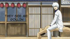 Hostcar.  Omfg.  Gintama Gintoki Kondo (gif so click to see)