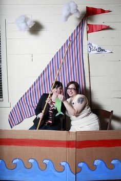Palm Door: Sail Boat Photo Booth.