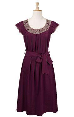 plum dress- love this Custom Dresses, Modest Dresses, Custom Clothes, Pretty Dresses, Casual Dresses, Short Dresses, Modest Fashion, Fashion Dresses, Romantic Fashion