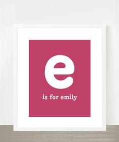 Personalized Baby Girl Name Emily Nursery Print By Madebyaiza