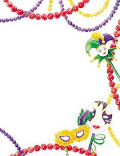 Mardi Gras Borders Clipart