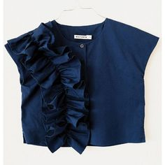 Wolf and Rita Wolf & Rita Blouse Marisa / Blue Solid Kids Blouse Designs, Blouse Back Neck Designs, Fancy Blouse Designs, Sleeves Designs For Dresses, Stylish Blouse Design, Kurti Designs Party Wear, Frock Design, Look Cool, T Shirt
