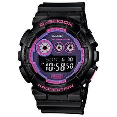 Casio G-Shock Purple Resin Band Black Dial Men's Watch, GD-120N-1B4