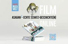"""Kinderbuchwelt — ASAGAN – Einen kurzen Film zum neuen Buch """"Echte Schatz-Geschichte(n) könnt ihr euch hier online anschauen. Monopoly, Movie, New Books, History, Book, World"""