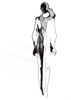 Fashion illustration - fashion design sketch // Stefanie Nieuwenhuyse