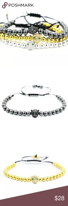 Beaded Bracelets. High quality! Beaded bracelet, high quality! Available in gold, silver and black. Jewelry Bracelets