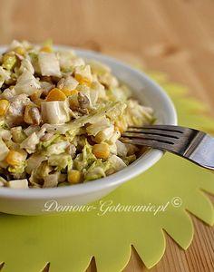 Sałatka z kapusty pekińskiej z fetą Polish Recipes, Polish Food, Feta, Potato Salad, Macaroni And Cheese, Grilling, Food And Drink, Potatoes, Lunch