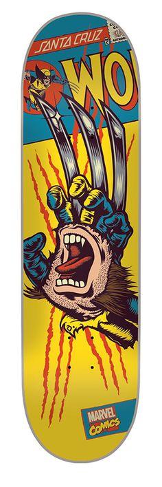 Santacruz: 8.26in x 32.04in Marvel Wolverine Hand Deck