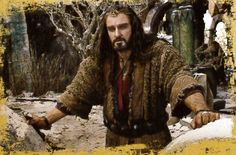 Thorin in ruined Dale.