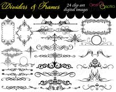 Pictures Religious Dividers Clip-Art | Clip Art Frames Dividers Scrolls Digital Clip Art for Invitations