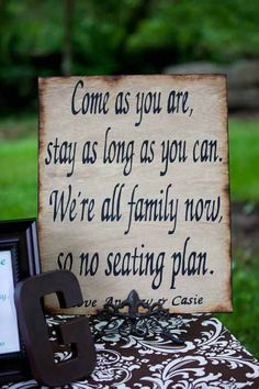 Seating sign.
