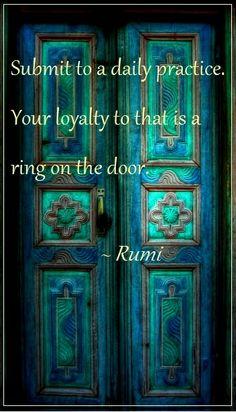 Rumi ring on the door