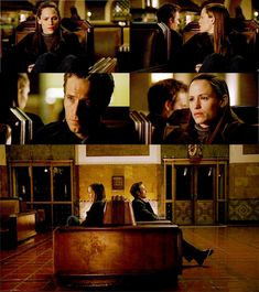 """Alias - Season 1 - Ep 1.22- Episode """"Almost Thirty Years"""" - When Sydney feels down, one of the places she goes to """"disappear"""" is the train station.  And Vaughn remembers and comes to visit her.  Such a sweet couple! :)"""