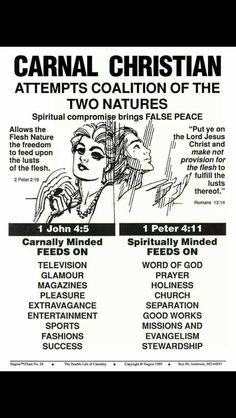 CARNAL and SPIRITUAL CHRISTIAN. But lets focus on Christ, and seek him with our weaknesses and failures. He forgives and will help you up again. Bible Teachings, Bible Scriptures, Bible Quotes, Repentance Quotes, Christian Faith, Christian Quotes, Christian Living, Bible Study Notebook, Bible Journal