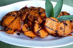 Grilled Sweet Potatoes with Pancetta & Sage Vinaigrette by CookinCanuck, via Flickr