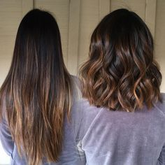 Color? // Balayage touch up and #lob haircut #TransformationMONDAY✂️