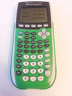 Texas Instruments TI-84 Plus Silver Edition Graphing Calculator Green!