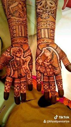 Traditional bridal mehndi by khyati's mehndi