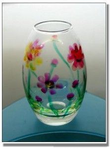 Painting on glass on pinterest hand painted wine glasses for Glass painting techniques
