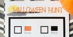 Halloween Hunt Preschool Printable: 30 Days of Halloween - Day 18 - Cupcake Diaries