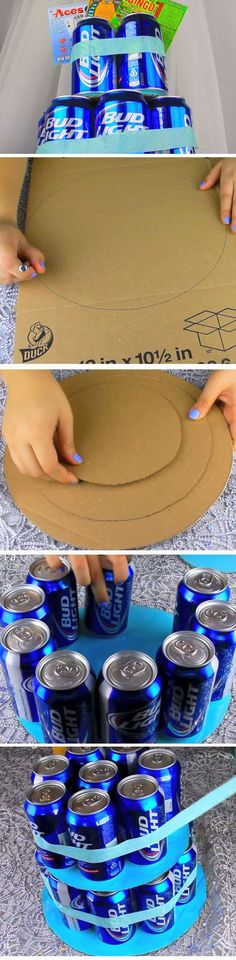 Beer Can Cake   DIY Fathers Day Gift Basket Ideas for Men   Easy Christmas Gifts for Men