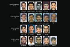 9/11 Hijackers: The 19 hijackers who took control of four commercial airplanes and crashed them into the World Trade Center and the Pentagon, and a field in PA.