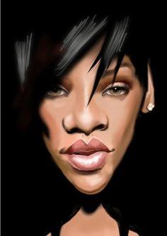 Rihanna, by Steve_Roberts, printed at wittygraphy