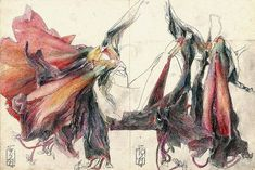 """""""Diary of the Amaryllis"""", 1984, pencil and pastel crayon by HORST JANSSEN: 1929 - 1995"""